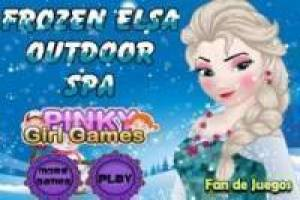 Gioco Frozen elsa outdoor spa Gratuito