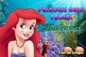 Princess Ariel: Facial makeup