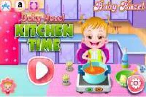 Baby Hazel: Distracted in the kitchen