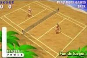 Free Tennis on the beach Game