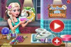 Help Elsa with crockery