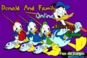 Coloring Donald Duck and his nephews