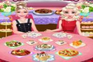 Barbie ed Elsa: cena dell' amicizia