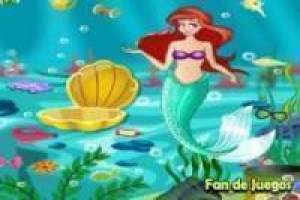 The Little Mermaid het reinigen van de oceaan