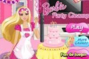 Free Barbie house clean Game