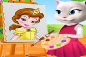 Angela painting Baby Bella