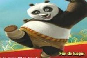 Kung fu panda jump over the clouds