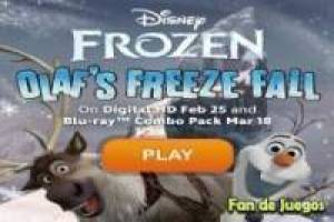Frozen olaf`s freeze fall