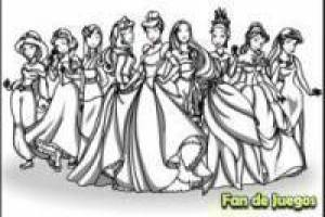 Colorear a todas las princesas disney