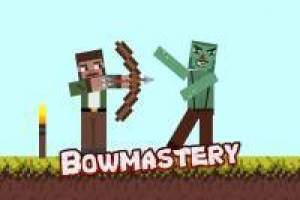 Bow Shooting at Minecraft Creeper