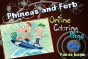 Juego Colorear a phineas and ferb Gratis