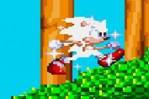 White Sonic in Sonic Knuckles Game