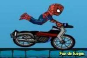 Spiderman: motorcycle stunts