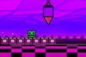 Geometri Dash neon under frysepunktet