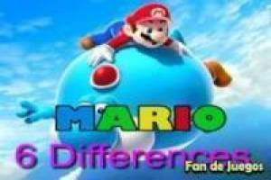 Super Mario: Find six differences