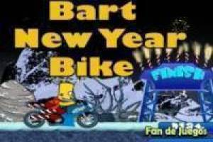 Free Bart Simpson bike: new year Game