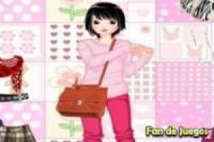 Dress up girl with lots of clothes