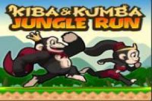 Kiba and Kumba running through the jungle