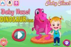 Baby Hazel: Have fun at the dinosaur park