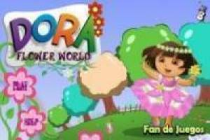 Dora the Explorer en bloemen