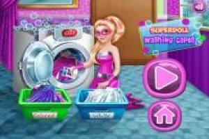 Barbie Super Doll: Wash the Clothes
