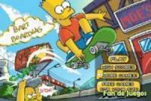 Bart Simpson skateboarding 2