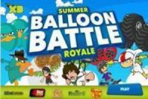 Battles of balloons in Disney XD