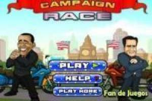 Juego Carreras de motos: Obama vs Romney Gratis