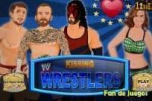 Free Kissing wrestlers Game
