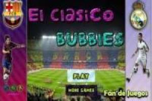 Juego F.C. Barcelona vs Real Madrid bubble Gratis