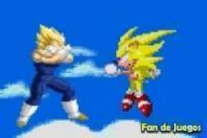 Free Sonic vs vegeta super saiyan Game