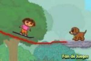 Dora the Explorer speichert den Hund