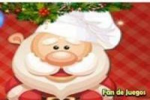 Cooking cookies with santa claus