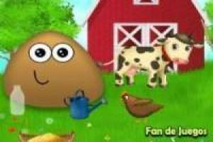 Free Pou on the farm Game