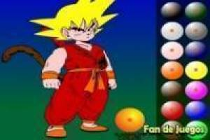 Colorear a goku de dragon ball z