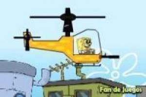 Spongebob and his helicopter