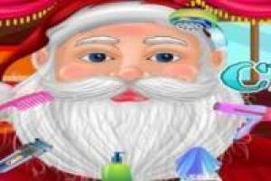 Trimmed beard Santa Claus