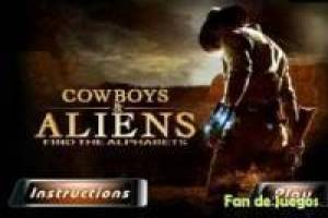 Cowboys and aliens: hidden letters