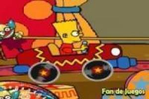 Bart com krusty carro