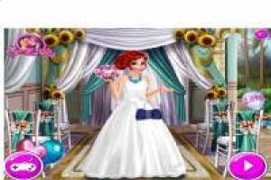 Ariel dresses as a bride