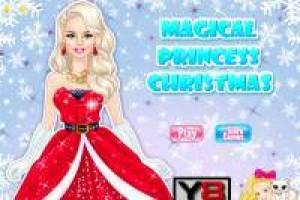 Dress up the elegant princess for her Christmas parties