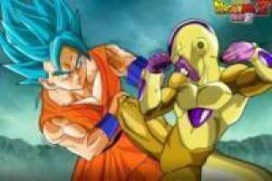 Goku Super Saiyan proti Freezer Gold