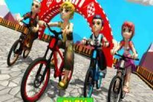 3D bike stunts