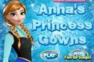 Free Frozen, Anna's Magic Dresses Game