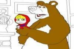 Paint Masha and the Bear