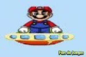Super Mario on the spacecraft
