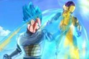 Vegeta Super Saiyan blue vs Freezer god