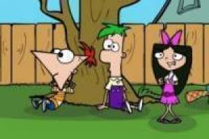 Phineas and Ferb Cazar monstruos saw