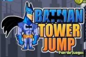 Batman jumps to the top of the building