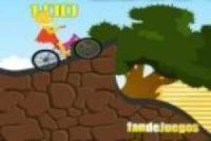 Simpson: Lisa on a bicycle